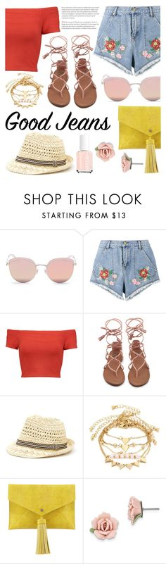 """Good jeans"" by bstaudacher ❤ liked on Polyvore featuring Stephane + Christian, House of Holland, Alice + Olivia, Neiman Marcus and 1928"