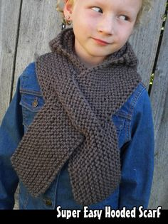 Knitting pattern for super easy hooded scarf ad combination hat super easy hooded scarf knitting pattern dt1010fo