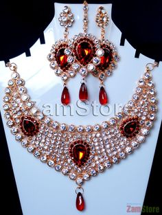 Imitation Diamonds Cubic Zirconia, Perfect for Bride! White and Maroon. $36.00.