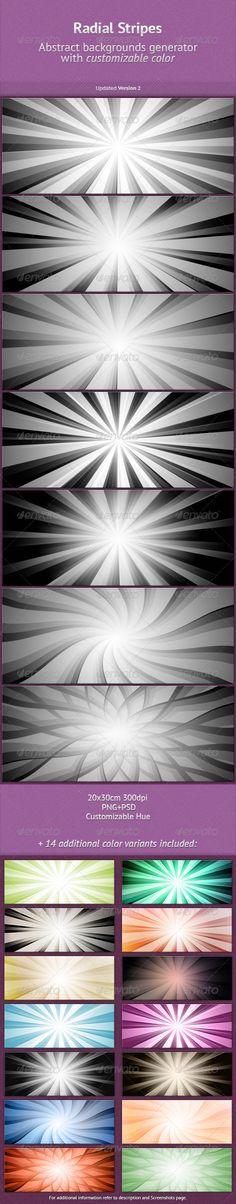 Radial Stripes BGs Generator  #GraphicRiver