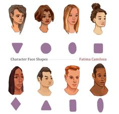 artist-refs:Character Face Shapes by taho
