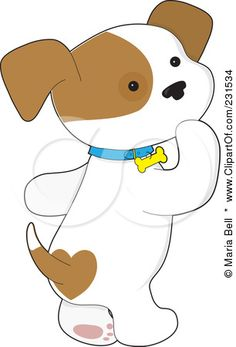 Clip Art Cute Puppy Clipart cute cartoon dogs clip art clipart puppy looking back and royalty free rf illustration of a dog walking on his