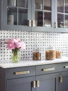 hgtv - modern gray and gold kitchen on astral riles