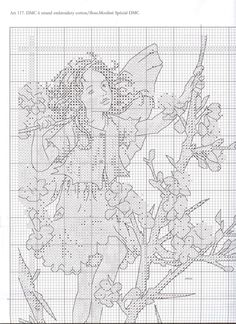 Cross stitch - fairies: Traditional flower fairy sampler - Cicely Mary Barker (chart - part A1)