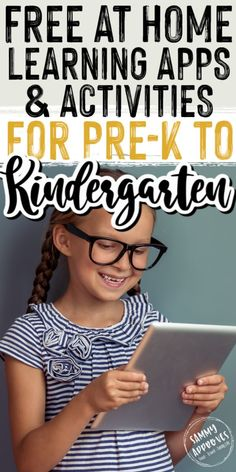 Your preschoolers and kindergarteners will love these free activities and learning apps for kids! Great resources for parents homeschooling their kids or just trying to keep them entertained at home. Learning Apps For Toddlers, Best Learning Apps, Learning Websites, Educational Websites, Free Preschool Games, Fun Activities For Kids, Sensory Activities, Homeschool Apps, Homeschooling