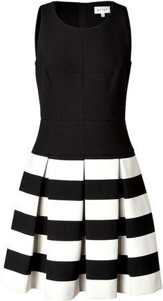 MILLY Dress in Blackivory - Lyst