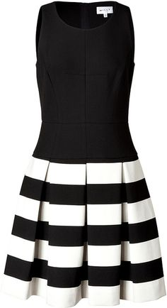MILLY Dress in Blackivory - Lyst