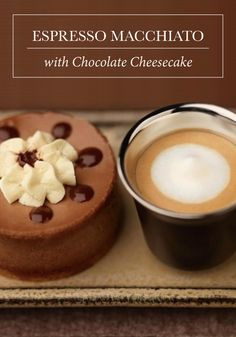 Bring together your love of desserts with Nespresso Ristretto Grand Cru and what do you have? This recipe combination for Chocolate Cheesecake and Espresso Macchiato, of course!