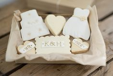 Wedding cookies gift box from Nila Holden