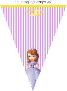 kit festa princesa sophia bandeirolas