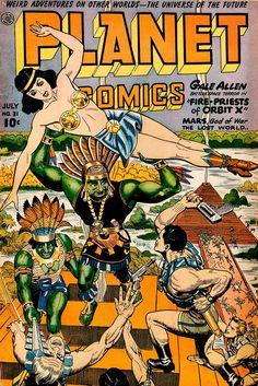 Planet Comics (No.31, 1944) Cover Art by Joe Doolin