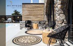 My Mykonos Hotel, Mykonos ciudad, Grecia Pool Lounge, Lounge Areas, Restaurants, Mykonos Hotels, Backyard, Patio, Outdoor Living, Outdoor Decor, Rustic Interiors