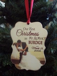 Christmas Ornaments from your Wedding Day Photography!
