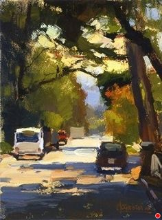 'Commonwealth Ave.' by Jennifer McChristian Oil ~ 8 x 6