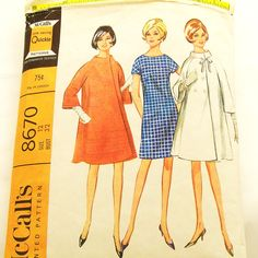 Vintage 1960s Dress Coat Pattern McCalls 8670 Size 12 Bust 32. $7.00, via Etsy.
