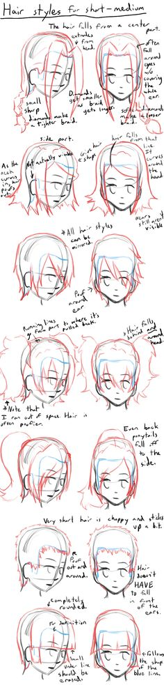How to Draw Anime Hair Styles by ~LearntoDrawAnime on deviantART