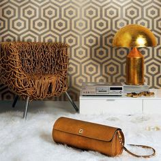 Tres Tintas Wallpaper - Hexagono