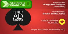 [ThemeForest]Free nulled download HTML5 Poker Ad Banner from http://zippyfile.download/f.php?id=45714 Tags: ecommerce, ad sense, animated banner, card game, doubleclick ad, google web designer, HTML5 Banner, poker ad banner