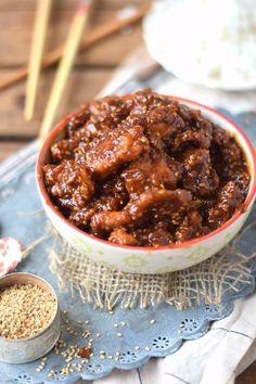 Honig Sesam Hühnchen - Honey Sesame Chicken Recipe - The Best Asian Recipes Spicy Chicken Recipes, Baked Chicken, Asian Recipes, Beef Recipes, Grilled Chicken, Healthy Recipes, Zoodle Recipes, Boneless Chicken, Pesto Chicken
