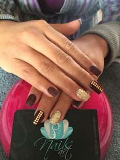 Acrylic nails, Nails art, wine nails