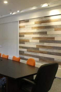 Create a beautiful accent wall in your conference room with Inteplast Accent Planks. They can be installed with Command Strips so you can remove them without any damage to your walls. Diy Wood Wall, Command Strips, Color Pop, House Design, Accent Walls, Planks, Wall Ideas, Funeral, Warehouse