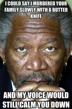 I could say – Morgan Freeman meme