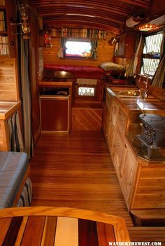 Motorhome living area truck Handmade Truck Camper With A Yacht-Like Interior Tiny Camper, Rv Campers, Camper Trailers, Camper Van, Travel Trailers, Rv Travel, Teardrop Campers, Luxury Travel, Travel Tips