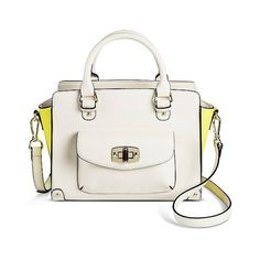 Women's Winged Colorblock Satchel White Sand - Merona (891.220 VND) ❤ liked on Polyvore featuring bags, handbags, white sand, colorblock satchel, white satchel, man bag, colorblock purse and color block purse