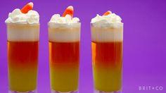 How to Make Candy Corn Jello Shots
