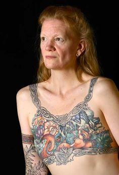 Seattle tattoo artist Tina Bafaro says the number of women seeking post-mastectomy tattoos is increasing.  Robert Hood/Fred Hutch