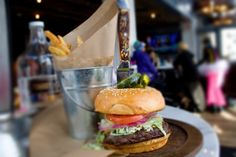 Burger and hand-cut fries at Tomboy Tavern, Telluride..had them and they are great..tld....ate there again tonight....aug 11, 2013