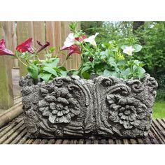 Wood Pot Cast Stone Flower Planter   Garden Ornaments By Onefold