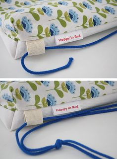 Drawstring bag tutorial - tie a knot or two