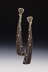 Victoria Moore, via Artful Home. Damascus Steel, Gold and Diamonds. Fabulous.
