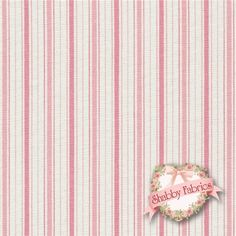 Vintage Rose 108 P Pink Ticking Stripe By Rachel Ashwell For Treasures Shabby Chic