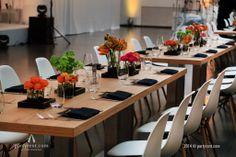 Een #diner #event voor 120 internationale gasten. De inrichting bestond o.a. uit de collectie Sylt en de design klassieker 'Eames Plastic Side Chair DSW' van #Vitra.