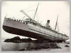 Shipwreck SS Pincess May Alaska Sea sailing cruise ship photo print 1910 for sale online Abandoned Ships, Abandoned Places, Ghost Ship, Tug Boats, Shipwreck, Tall Ships, Water Crafts, Old Photos, Sailing Ships