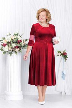 Наряднае платья для полных женщин белорусского бренда Ninele осень-зима 2017-2018 Elegant Maxi Dress, Classy Dress, Mom Dress, Dress Skirt, Plus Size Dresses, Dresses For Work, Arabic Dress, Plus Size Fashion For Women, Curvy Girl Fashion