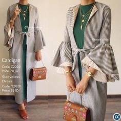 Ideas For Fashion Hijab Casual Cardigans Abaya Fashion, Muslim Fashion, Modest Fashion, Trendy Fashion, Fashion Dresses, Trendy Style, Fashion Vintage, Fashion 2018, Hijab Casual