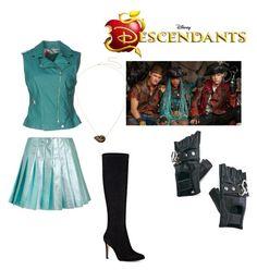 """Descendants 2 uma"" by idaeliasson35 on Polyvore featuring Disney, Miu Miu, Funk Plus and Nine West"