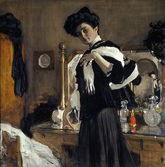 Portrait of Henrietta Girshman, Valentin Serov 1907