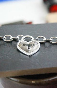 GUESS Framed Heart Necklace #accessories  #jewelry  #necklaces  https://www.heeyy.com/suggests/guess-framed-heart-necklace-silver/