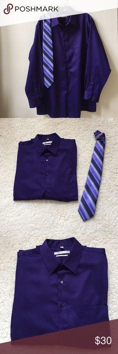 Geoffrey Beene Dress Shirt Beautiful deep purple dress shirt. Size 16 1/2 neck, sleeve is 32/33. Regular fit. Geoffrey Beene Shirts Dress Shirts