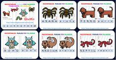 Recortables, puzles por palabras trabajamos los animales. Listos para imprimir.