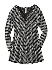 Shape-Loving Chevron Tunic