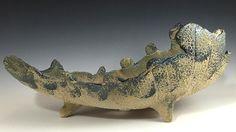 """Iker Bonsai Pots - Primitive Scoop Bonsai Pot, 18"""" 15100, $175.00 (http://www.ikerbonsaipots.com/primitive-scoop-bonsai-pot-18-15100/)"""