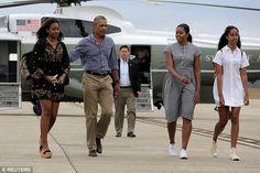Family time: Mrs. Obama said she and her husband, President Barack Obama, have been able to keep 'some normalcy' because of the age of their daughters Malia, 18, and Sasha, 15