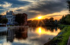 Sunset on the Erie Canal