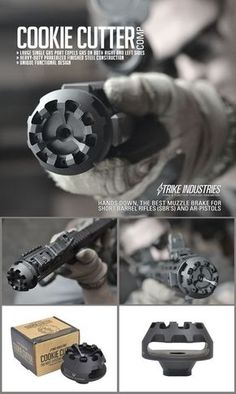 Muzzle brake for short barrel rifles and AR pistols Revolver, Ar15 Pistol, Ar Pistol Build, Weapons Guns, Guns And Ammo, Zombie Weapons, Ninja Weapons, Armas Ninja, Tac Gear