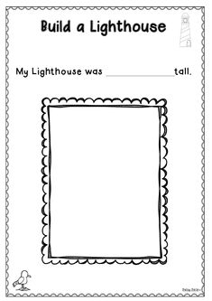 Build a Lighthouse after reading The Lighthouse Keeper's Lunch Lighthouse Keepers Lunch, Picture Story Books, Duck Pond, Ocean Themes, Year 2, Math Activities, Maths, Seaside, Childrens Books